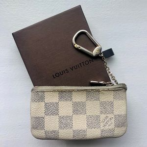 Louis Vuitton Key Pouch Damien Azur Canvas Wallet